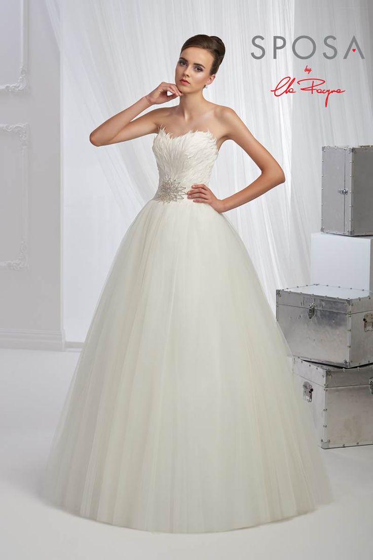 Extrêmement Les 25 meilleures idées de la catégorie Robe de mariée en plumes  YJ54