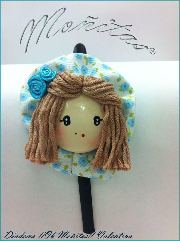 Diadema de niña carita de muñeca.