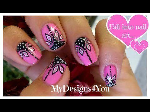 Pink and black nail art | Abstract nails ♥ Розовый Дизайн Ногтей