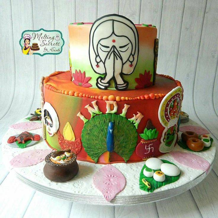 Incredible India International Cake Collaboration - Memoirs of My Beautiful Travels  - cake by Melting Secrets by Kirti