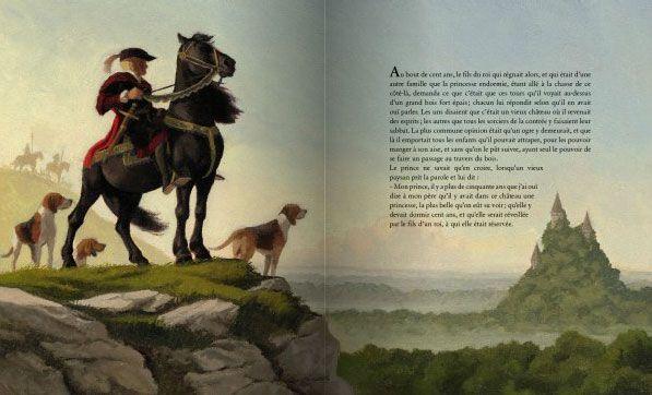 "Olivier Desvaux illustration for ""La belle au bois dormant""."