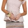 Sass pastel mini skirt with beautiful sequin detailing.  Team with the Sass Brianna Cardi.  Only $70