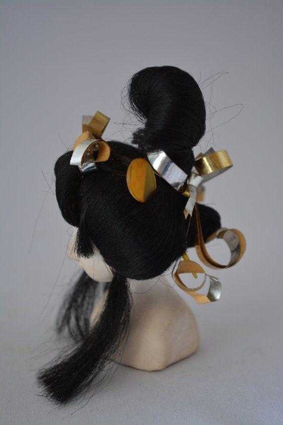 Geisha hairstyle model Japanese hairdressing by StyledinJapan