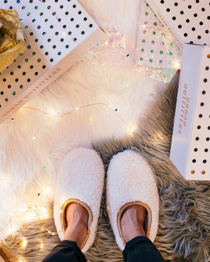 The only acceptable footwear while wrapping presents. #UOonYou #UOGifted Cloud Slipper - SKU #40136293
