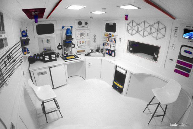 ©JackTurkel_1975_Darkroom (8)  Beautiful space themed darkroom built in 1975 by Jack Turkel, for just under $500 then.