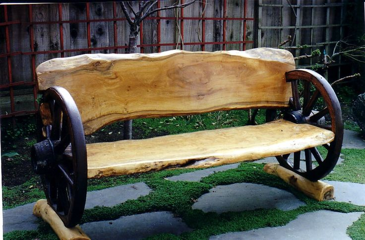 """My personal idea.....putting this """"outside bench"""" INSIDE, in the corner of a rustic, country living room."""