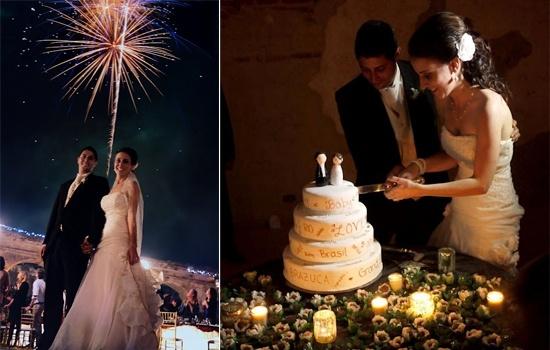 Destination Wedding Guatemala Antigua Fireworks Display International Love