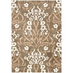 Safavieh Ultimate Smoke/ Beige Shag Rug (8' x 10') - Overstock Shopping - Great Deals on Safavieh 7x9 - 10x14 Rugs