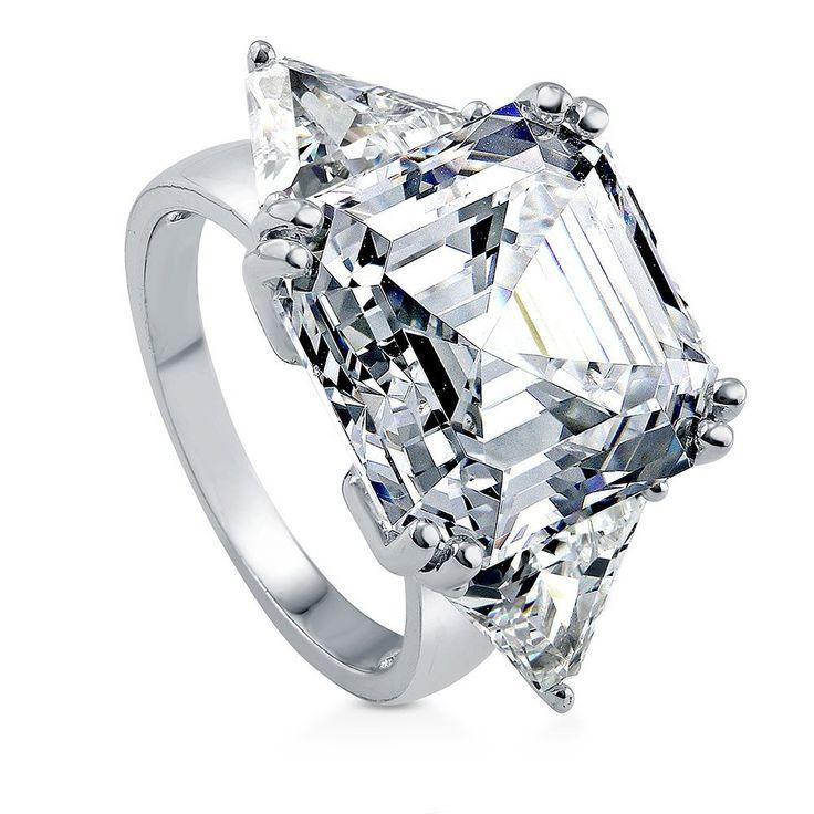 Missrui Love Heart Cut Clear Zircon Wedding Band Ring Engagement Promise Bridal nOm1JB6C