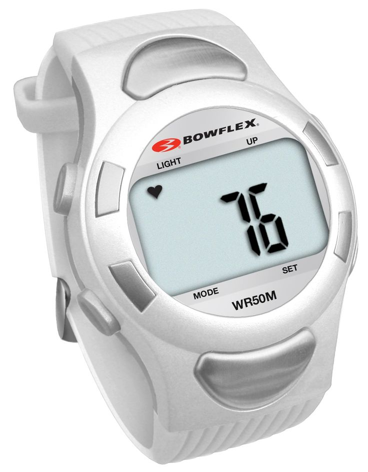 Bowflex Classic C10 Strapless Heart Rate Monitor (White). Time of Day. Dual Time Seeting. Stopwatch/Alamr. Countdown Timer. Heart Rate Mode/No chest strap.