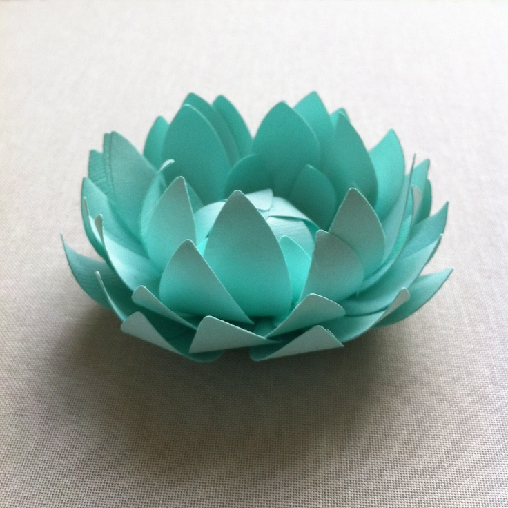Mint paper lotus. I would love to figure out how to make this.