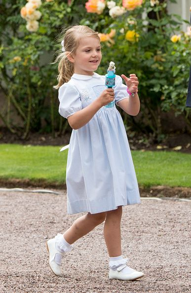 Princess Estelle of Sweden at the 39th birthday celebrations for Crown Princess Victoria at Solliden on July 14, 2016 in Oland, Sweden.