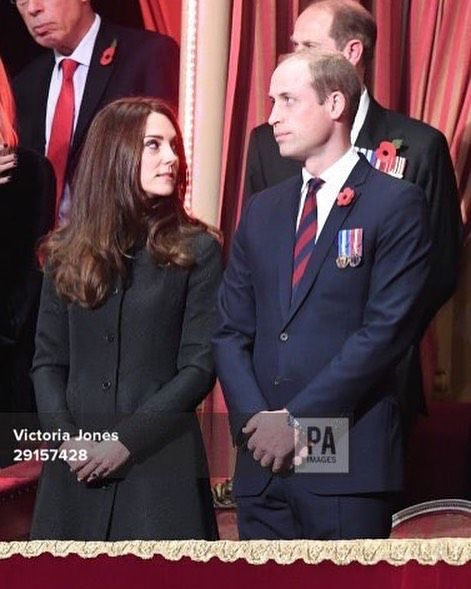 william and catherine at the festival of remembrence 12th November 2016