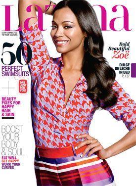 Zoe Saldana Latina magazine May 2013 cover