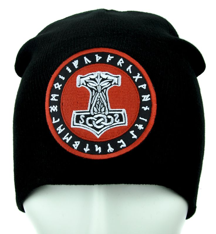 Mjolnir Thor Hammer Rune Beanie Alternative Clothing Knit Cap  #tradgoth #punksofinstagram #gothgoth #psychobilly #horrorpunk #scene #metalforlife #deathrock #altclothing #rivethead