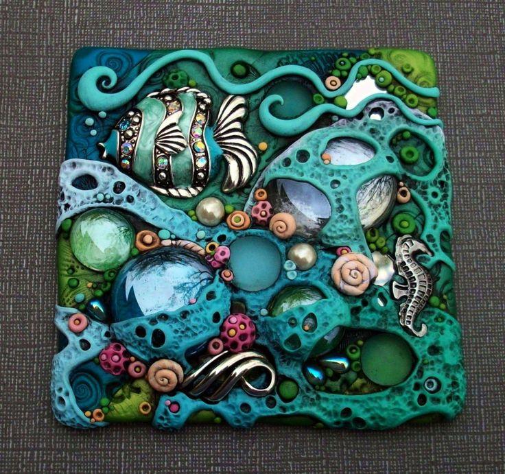Coral Sea Tile - Photos - Polymer Clay Adventure