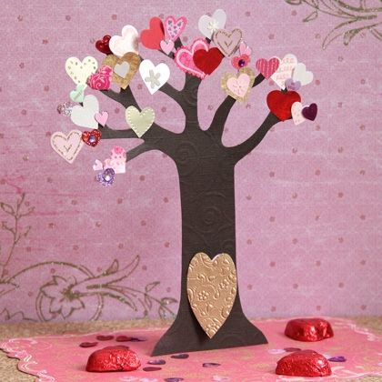 Fairy Valentine Tree - this would be fun to do a giant one on the wall and have the family put hearts up with reasons we love each other all through the month