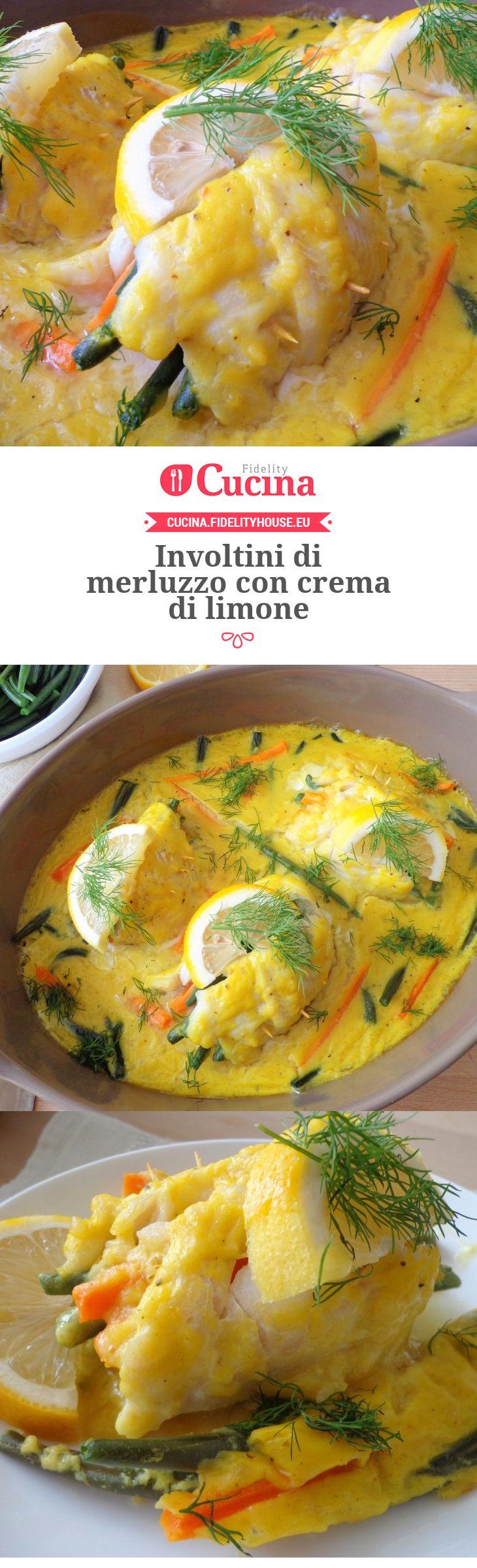 Involtini di #merluzzo con crema di #limone della nostra utente Magdalena. Unisciti alla nostra Community ed invia le tue ricette!