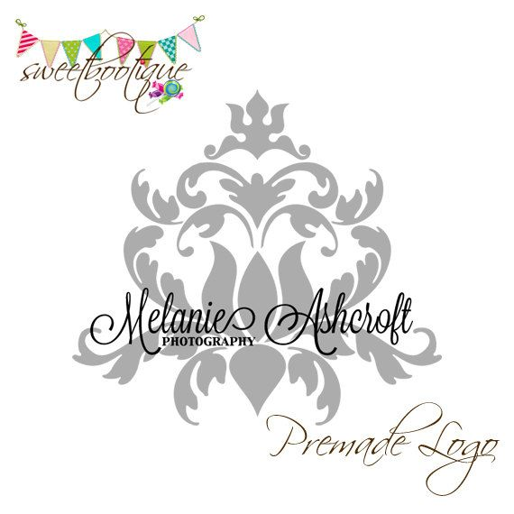 FULLY CUSTOMISABLE  Premade Logo  Melanie by SweetBootique on Etsy