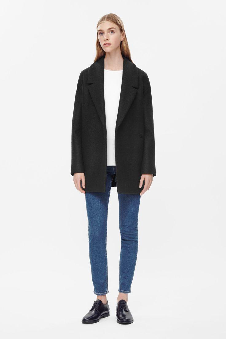 Short belted wool coat