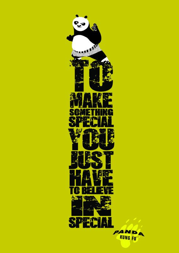 KUNG FU PANDA quote, Wall Art Print Motivational Poster