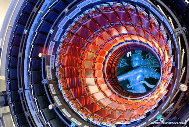 """THE DARK ONE: The Large Hadron Collider is the largest machine in the world. They are using it to search for the """"god particle"""". But did you also know that this machine and the organization behind it have dedicated their life's work to the """"dark one"""", the Hindu god Shiva? #CERN #Shiva http://www.nowtheendbegins.com/blog/?p=31668"""