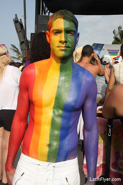 Still More Amazing Body Paint, In The Style Of A Gay Pride -3846