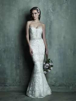 Beautiful fully beaded C288 Allure Couture gown. available in plus size at Cherry Blossom Bridal. Must see in person! Call (202) 544-2400 or visit www.CherryBlossom... to request an appointment. #AllureBridals #PlusSizeAllueBridals #PlusSizeAllureDresses #Bride #Engaged #ClassicWeddingStyle #CelebrateCurves