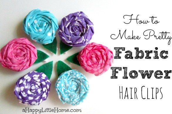 If you love little hair accessories, learn how to make pretty fabric flower hair clips. These diy hair clips are fun to make at home and this post walks you through the process step-by-step. These fun homemade hair accessories make great gifts, too. These diy fabric flower hair clips are adorable - I can't wait to make some myself!