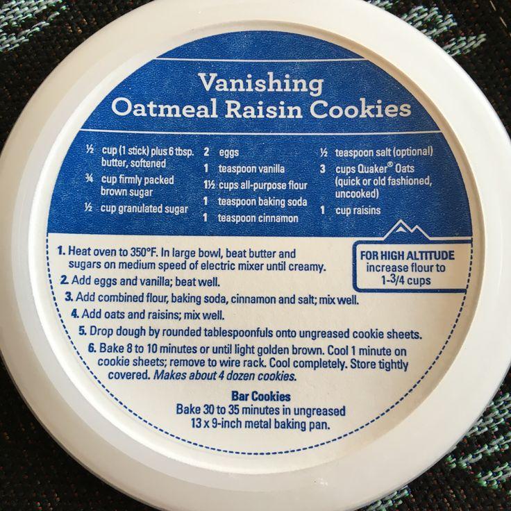 Vanishing Oatmeal Rasin Cookies -my childhood favorite