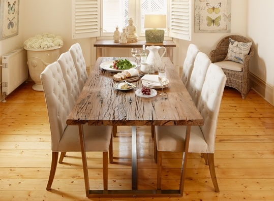 Early Settler - railway sleeper dining table