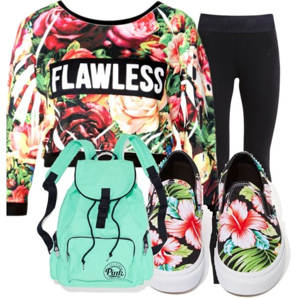 moda juvenil by gutierrezvictoria on Polyvore featuring moda, NIKE and Vans