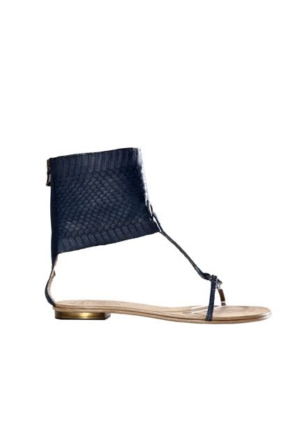 Judari navy blue water snake sandals