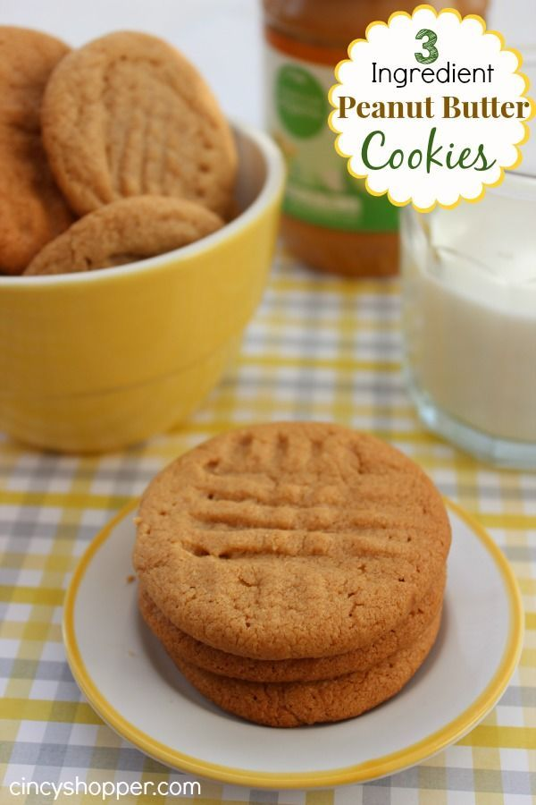 We were trapped in the house today due to the snow so we decided to make this yummy 3 Ingredient Peanut Butter Cookies Recipe. I was a bit worried about mak