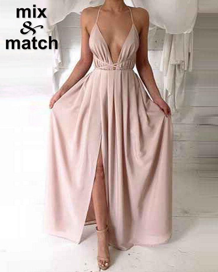 Купить товарЖенщины элегантный сексуальный длинное платье глубокий v образный вырез спинки бинты атласная плиссированные макси платья DR12015B в категории Платьяна AliExpress.     Обратите внимание           Уважаемые                  Бразилия покупатели                          , Пожалуйста, ос