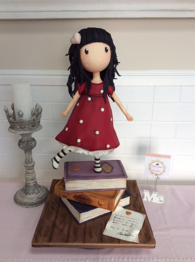 "Bolos 3D - 3D Cakes the ""Gorjuss Santoro's"" girl - Cake by Wish a Cake by Elsa Paulino"