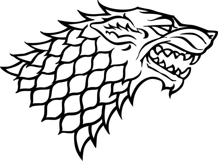 Juego de Tronos - Blasón de la casa Stark 30cm | RaccoonGames.es