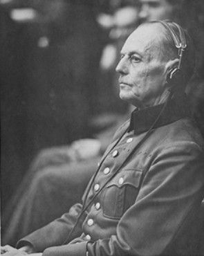 Rundstedt at the Nuremberg Trials, Germany, 18 Oct 1945-1 Oct 1946; Source: United States National Archives