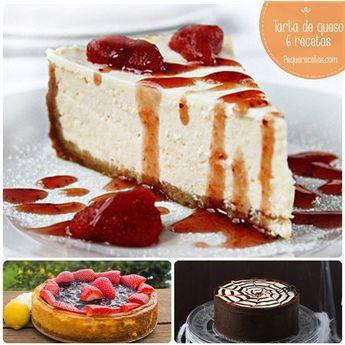 Tarta de queso, 6 recetas fáciles para chuparse los dedos: tarta de queso philadelphia, tarta de queso al horno, New York cheesecake...