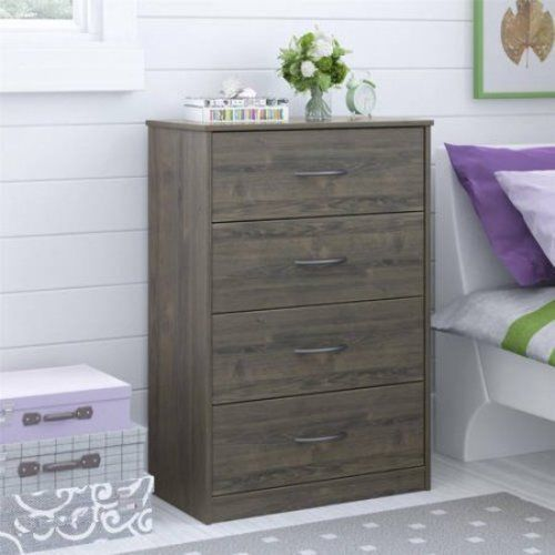 4 Drawer Dresser Chest Bedroom Furniture Storage Wood Drawers Clothes Organizer #1