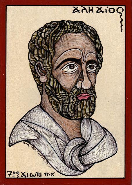 ΑΛΚΑΙΟΣ...Αρχαίος Ελληνας ποιητής που γεννήθηκε στη Μυτιλήνη περίπου το 620 π.Χ.... ALKAIOS ... Ancient Greek poet...