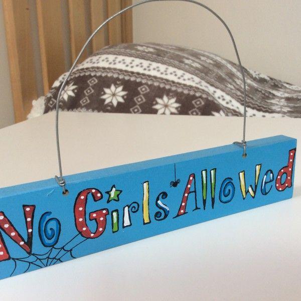 No Girls Allowed Childrens Bedroom Accessorieskool