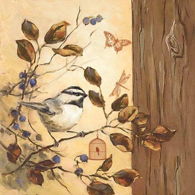 Картинки птичек для декупажа