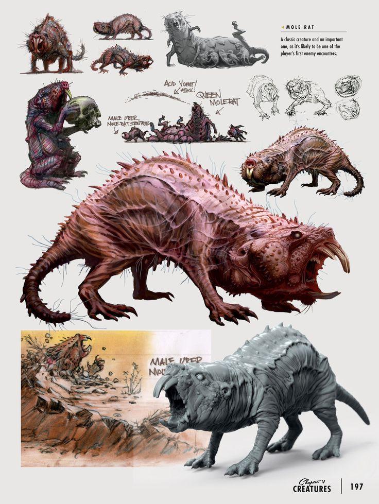 Mole rat concept art