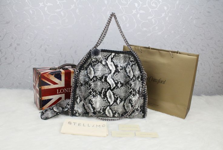 stella mccartney faux snakeskin bag