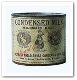 """Ele foi criado primeiramente para ser uma bebida de fácil armazenamento em tempos de crise e de guerras. Do tipo: """"Algo prático que dissolvido em água, vire leite""""... Simples assim! Então... Com a guerra civil americana (iniciada em 1861) o leite condensado atingiu um enorme sucesso. E a partir de 1880, timidamente, foi ganhando o mundo..."""