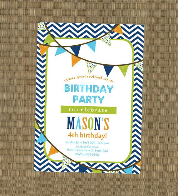 73 best images about Henrys first birthday party – Boys Party Invitations