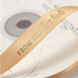 """""""From the Love Birds"""" Favor Ribbon"""