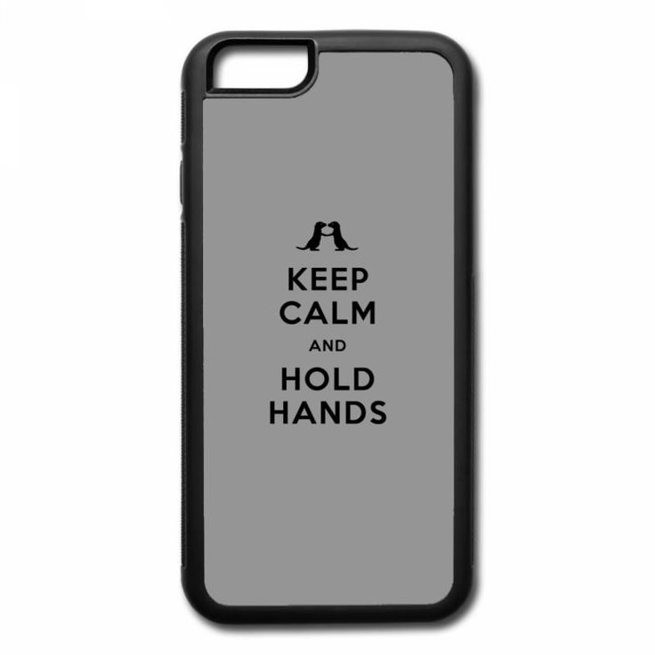keep calm and hold hands (otters holding hands) iPhone 7 Plus Case