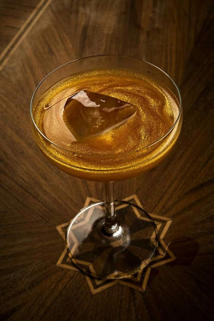 Signature Golden Cocktail by Alexandros Petalas